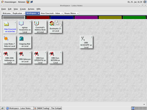 Lotus Notes Workspace on Linux