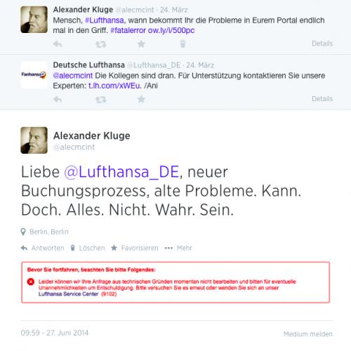Lufthansa Fail