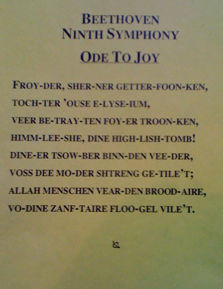 Ode to Joy for Non-Germany