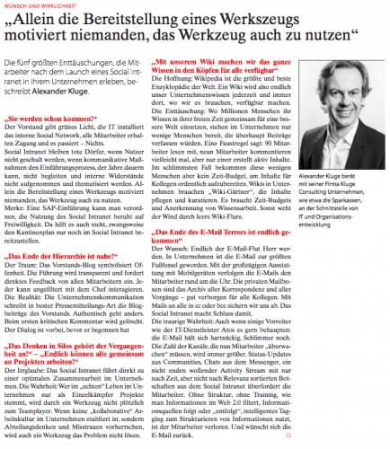 PR Report Alexander Kluge